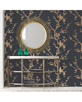 Tempaper - Bird Watching Self-Adhesive, Removable Wallpaper, Double Roll