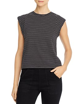 FRAME - Le High Rise Striped Muscle Tee