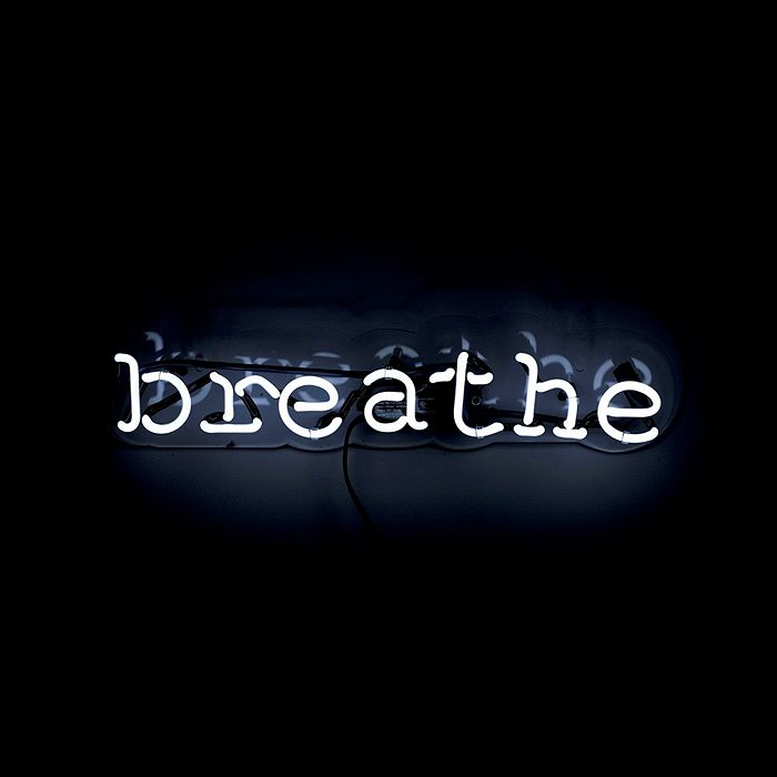 Oliver Gal Breathe Neon Wall Art In White