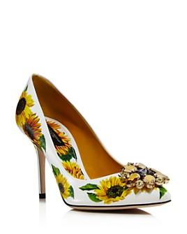 Dolce & Gabbana - Women's Sunflower Embroidered Pumps