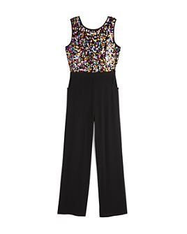 US Angels - Girls' Sequin Bodice Jumpsuit - Big Kid