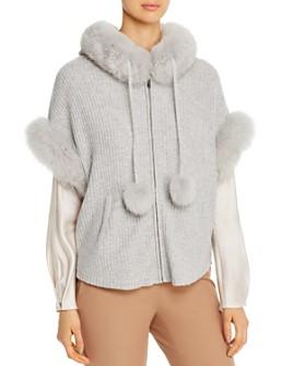Max & Moi - Bonie Fox-Fur-Trimmed Merino-Wool & Cashmere Cardigan