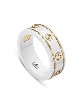 Gucci - 18K Yellow Gold & White Zirconia Icon Ring