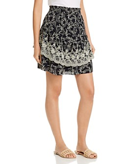 Joie - Braylee Embroidered Botanical Skirt