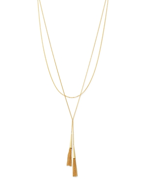 Bloomingdale\\\'s Layered Tassel Necklace in 14K Yellow Gold, 18 - 100% Exclusive