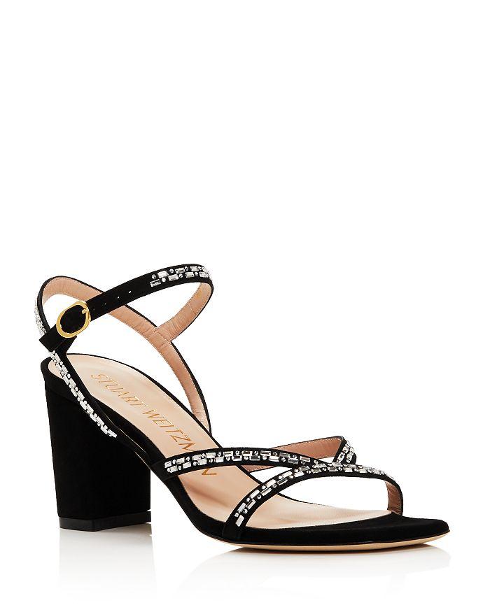 Stuart Weitzman - Women's Harlowe Crystal-Embellished Sandals