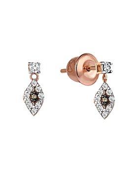 Kismet By Milka - 14K Rose Gold Diamond 10th Eye Drop Earrings