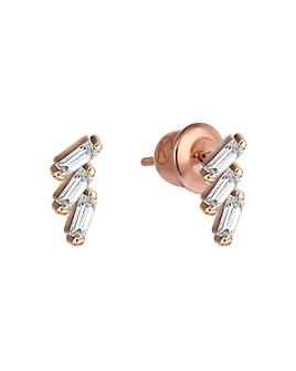 Kismet By Milka - 14K Rose Gold Diamond Step Stud Earrings