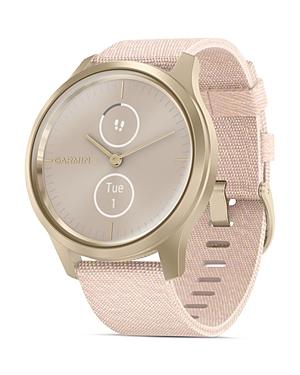 Vivomove Style Blush Pink Nylon Strap Touchscreen Hybrid Smartwatch