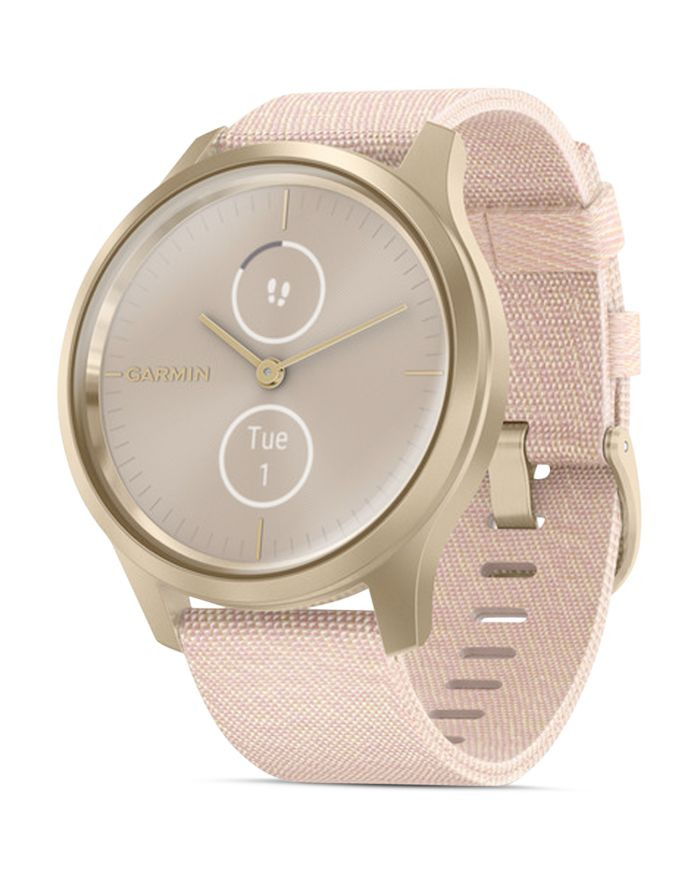 Garmin Vivomove Style Blush Pink Nylon Strap Touchscreen Hybrid Smartwatch, 42mm    Bloomingdale's