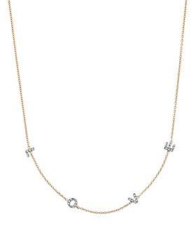 "Kismet By Milka - 14K Rose Gold Diamond Love Necklace, 18"""