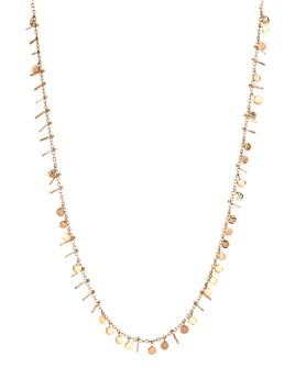 """Kismet By Milka - 14K Rose Gold Circle & Tassel Necklace, 18"""""""