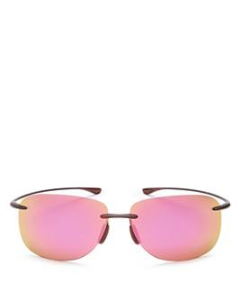 Maui Jim - Unisex Hikina Square Rimless Sunglasses, 62mm