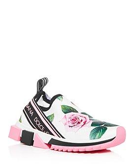 Dolce & Gabbana - Women's Floral Slip-On Sneakers