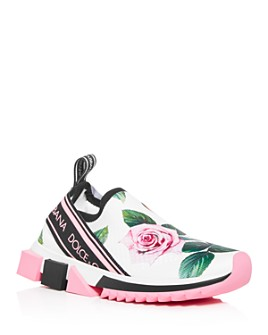 Dolce & Gabbana - Women's Floral Slip-On Sneakers