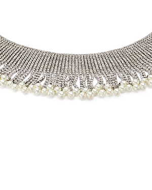 Aqua Fringe Crystal Choker Necklace, 11 - 100% Exclusive