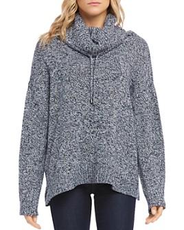 Karen Kane - Drawstring Cowl-Neck Sweater