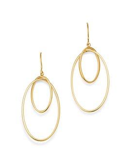 Bloomingdale's - Double Interlocking Hoop Earrings in 14K Yellow Gold  - 100% Exclusive