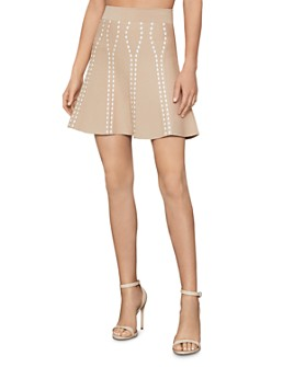 BCBGMAXAZRIA - Ingrid Textured Jacquard Mini Skirt