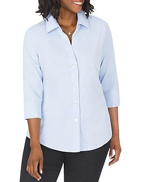 Paityn Three-Quarter Sleeve Poplin Shirt