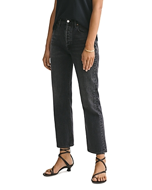 Agolde Ripley Ankle Straight Jeans in Photogram