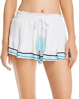 Surf Gypsy - Zigzag-Trim Swim Cover-Up Shorts