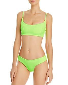 Peixoto - Jojo Smocked Scoopneck Bikini Top & Cayo Full Smock Bikini Bottom