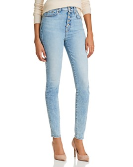 7 For All Mankind - High-Rise Ankle Skinny Jeans in Vail