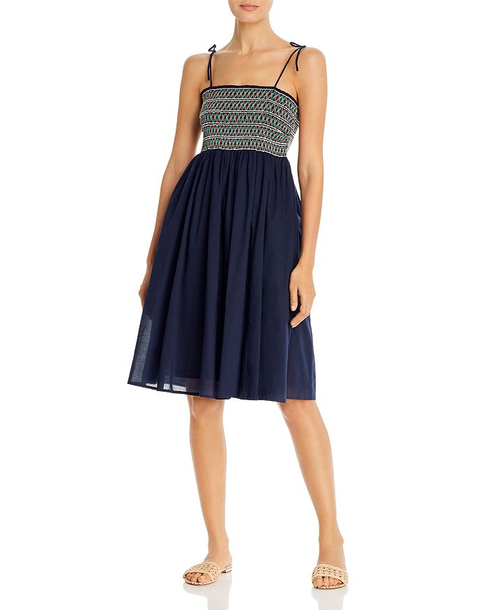 Tory Burch - Smocked Dress Swim Cover-Up