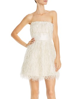 Jay Godfrey - Remi Faux-Feather-Trimmed Strapless Dress