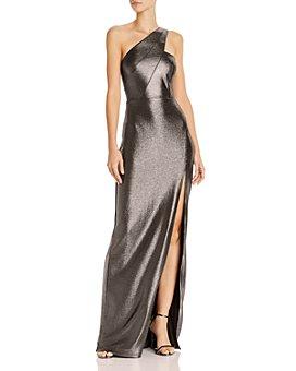 Aidan by Aidan Mattox - Metallic Knit One-Shoulder Gown - 100% Exclusive