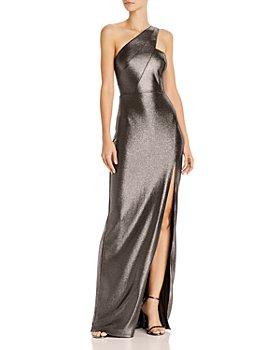 Aidan by Aidan Mattox - Metallic Knit One-Shoulder Gown - 100% Exclusive