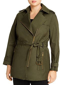 MICHAEL Michael Kors Plus - Zip Trench Coat