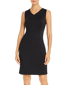 T Tahari - Crisscross-Back Sheath Dress