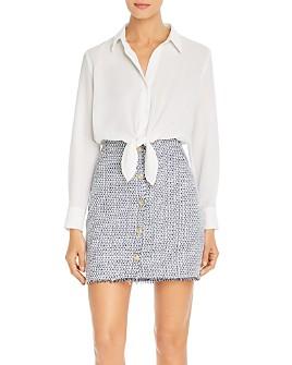 KARL LAGERFELD PARIS - Tie-Waist Button Down Combo Dress