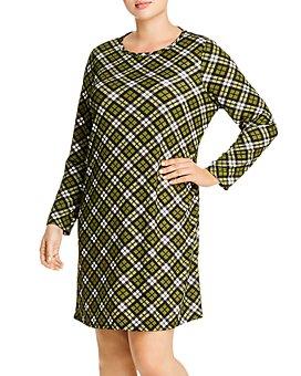 MICHAEL Michael Kors Plus - Plaid Shift Dress
