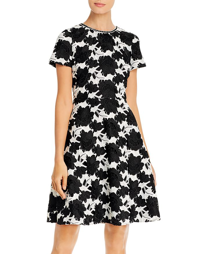 KARL LAGERFELD PARIS - Floral Fit and Flare Dress