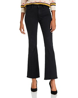 MOTHER - The Weekender Flared Jeans in Blackbird