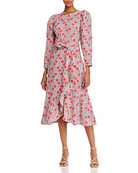 Rebecca Taylor - Floral-Print Puff Sleeve Midi Dress