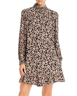 Rebecca Taylor - Giselle Mock-Neck Floral Dress