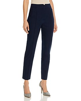 Rebecca Taylor - Straight-Leg Notched-Front Ankle Pants