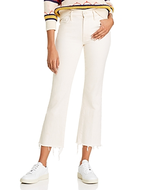 Mother The Insider Ankle Fray Flared Jeans in Act Natural-Women