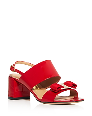 Salvatore Ferragamo High heels WOMEN'S GIULIA BLOCK HEEL SANDALS