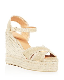 Castañer - Women's Bromelia Wedge Platform Espadrille Sandals