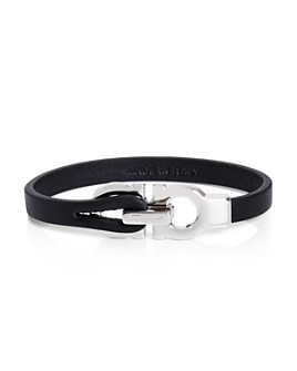 Salvatore Ferragamo - Double Gancini Leather Bracelet