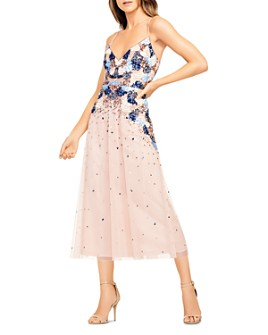 Aidan by Aidan Mattox - Beaded Midi Dress