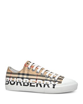 Burberry - Women's Vintage Check Logo Low-Top Sneakers