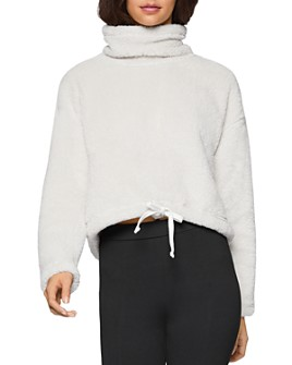 BCBGENERATION - Fleece Funnel-Neck Sweater