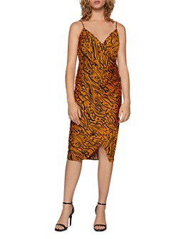 BCBGENERATION - Tiger-Stripe Crossover Dress