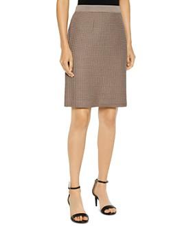 Misook - Textured Knit Pencil Skirt